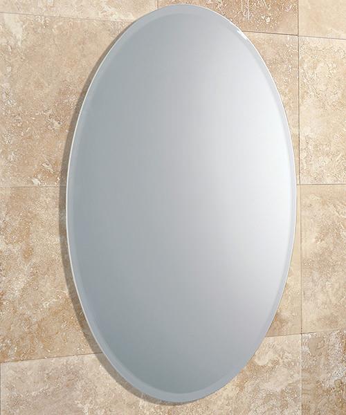 HIB Alfera Bevelled Edge Oval Shaped Mirror 420 x 540mm