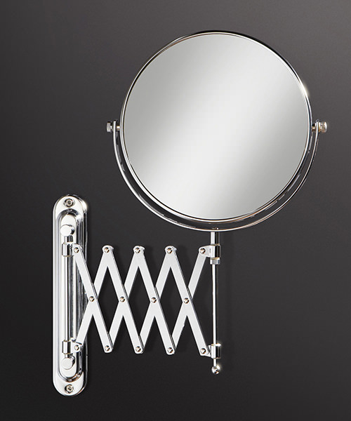 HIB Rossi Magnifying Bathroom Mirror With Long Extendable Arm