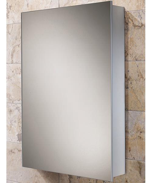 Hib kore slim line aluminium bathroom cabinet 400 x 600mm for Bathroom cabinet 600 x 400