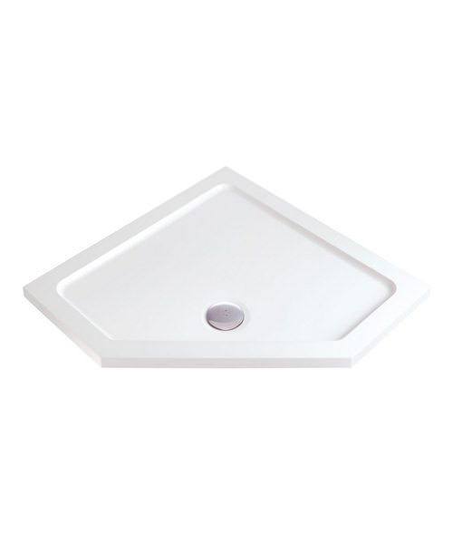 Phoenix Pentangle Low Profile Shower Tray With Waste 900 x 900mm