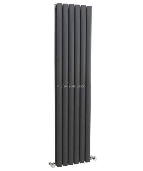 Hudson Reed Revive 354 x 1500mm Anthracite Double Panel Vertical Radiator