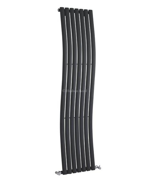 Hudson Reed Revive Wave 413 x 1785mm Anthracite Designer Radiator