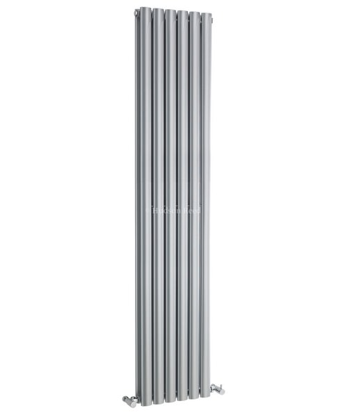 Hudson Reed Revive 354 x 1800mm Silver Double Panel Vertical Radiator