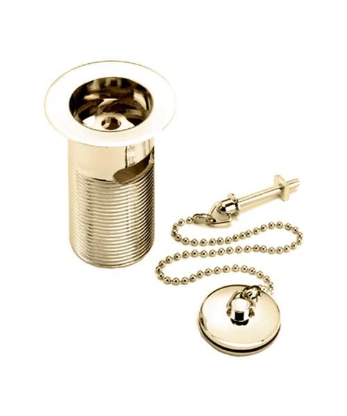 Bristan Luxury Basin Waste With ABS Plug Gold