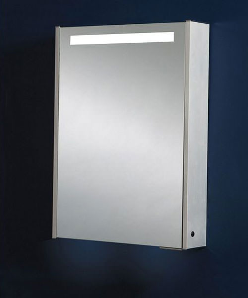 Phoenix Mercury Single Door Aluminium Mirror Cabinet 520 x 700mm