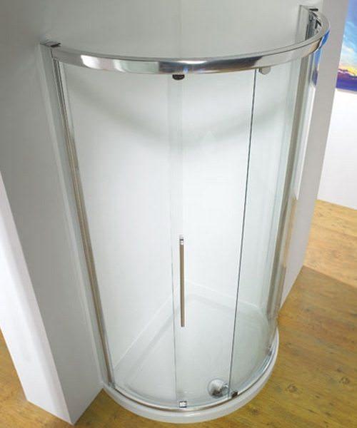 Kudos Original White Frame Side Access Curved Slider Door 810mm