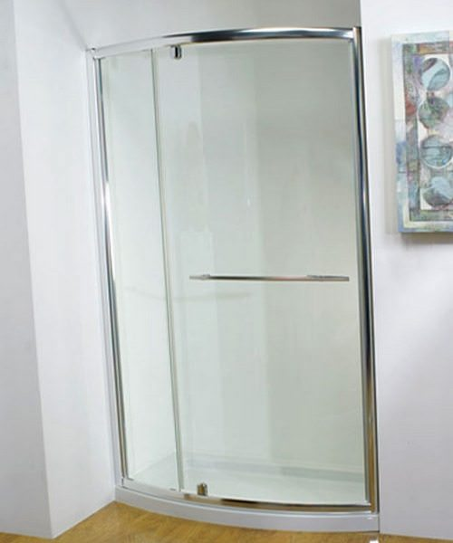 Kudos Original Bowed Pivot-Wide Door 1200 x 1850mm White