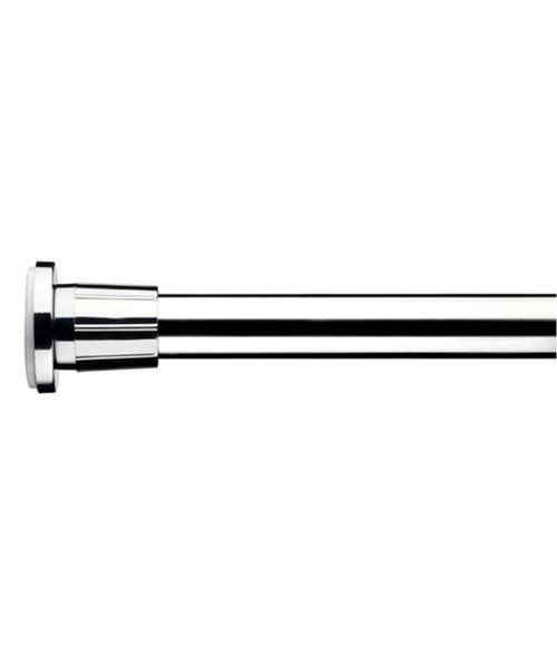 Croydex Chrome 8 Feet 6 Inch Telescopic Rod With Wall Brackets