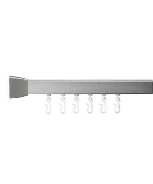 Croydex Professional Profile 800 Standard 915mm Silver Curtain Rail