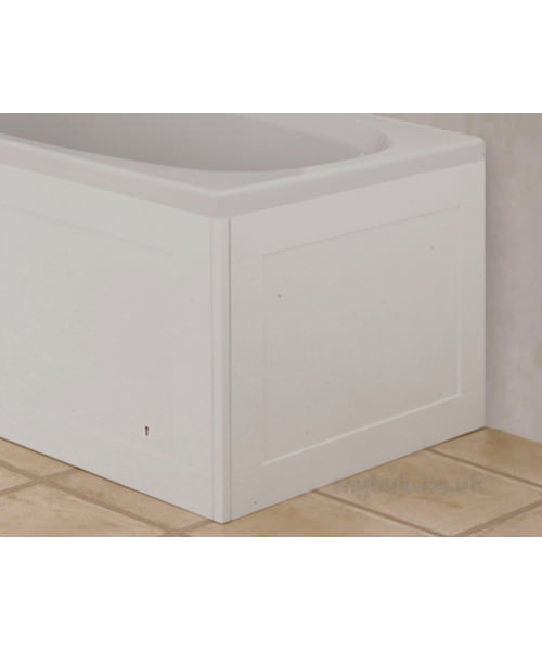 Croydex Unfold N Fit Gloss White End Bath Panel