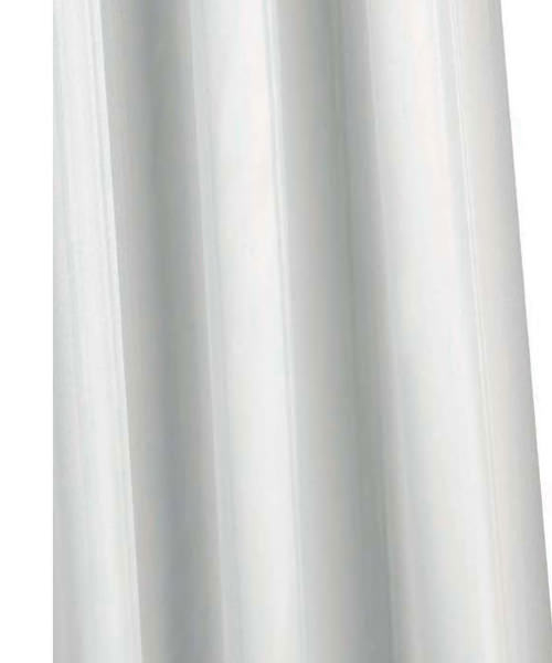 Croydex Professional Long Drop Textile 1800mm White Shower Curtain