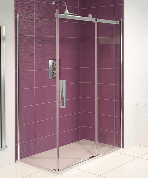 Aqualux Aqua 8 Roller Sliding Shower Door 1200mm