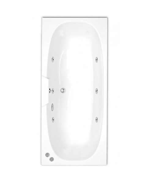 Trojan Algarve Double Ended 5mm Acrylic Whirlpool Bath 1700 x 750mm