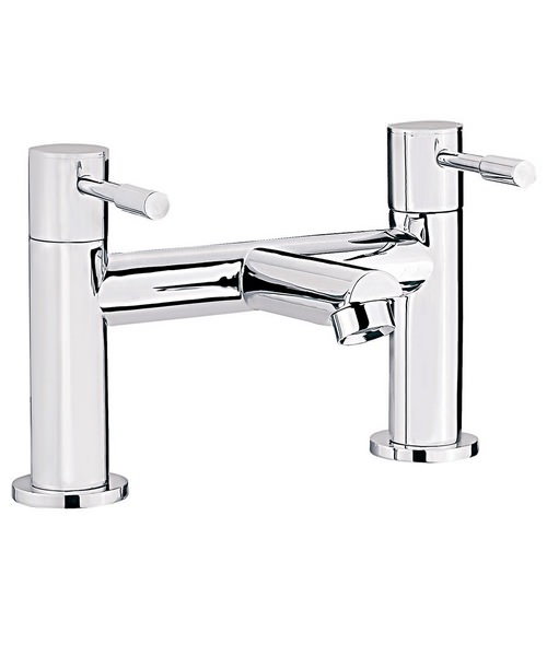Beo Prise Deck Mounted Bath Filler Tap Chrome