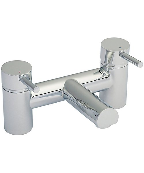 Beo Mini Deck Mounted Bath Filler Tap Chrome