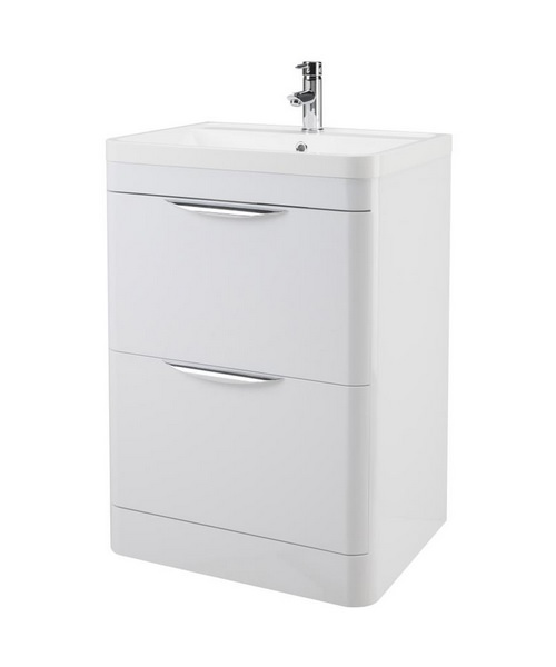 Lauren Parade 600mm 2 Drawer Floor Standing Cabinet And Basin