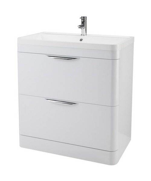 Lauren Parade 800mm 2 Drawer Floor Standing Cabinet And Basin