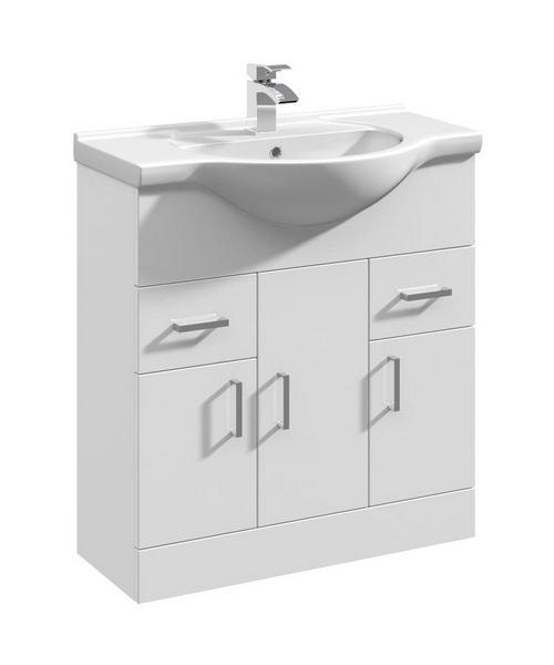 Lauren Delaware 750mm 3 Door And 2 Drawer Basin Vanity Unit