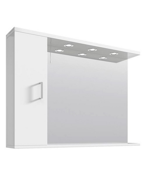 Nuie Premier Mayford High Gloss White 1050mm Lights With Mirror Unit
