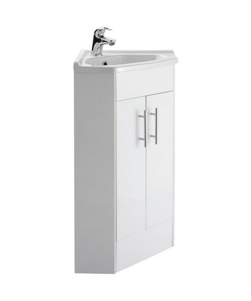 Nuie Premier Mayford 385 x 800mm Double Door Corner Cabinet And Basin