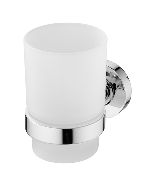 Ideal Standard IOM Wall Mounted Frosted Glass Tumbler And Holder