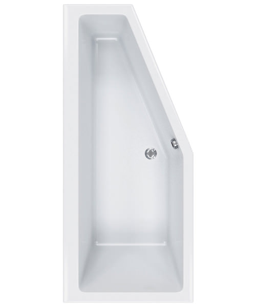 Carron Quantum 1700 x 750mm Right Handed Space Saver Acrylic Corner Bath White