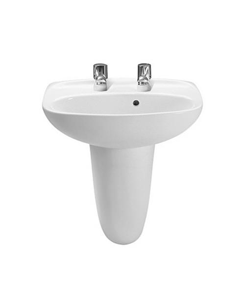 Roca Laura 450 x 340mm Cloakroom Basin With 2 Tapholes
