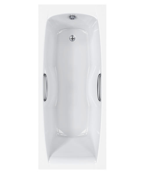 Carron Imperial 5mm Acrylic Single Ended Bath With Grips 1500 x 700mm