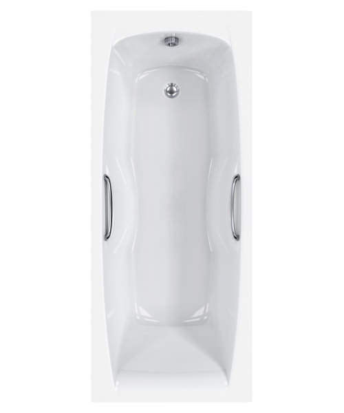 Carron Imperial 5mm Acrylic Single Ended Bath With Grips 1800 x 750mm