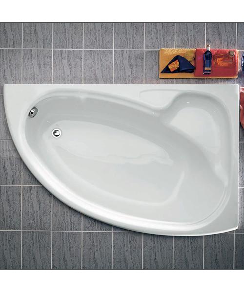 Roca Davina Offset Corner Bath Left-Hand - L 1550 x W 950mm