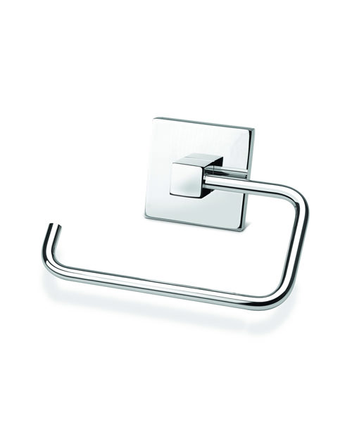 Croydex Brompton Flexi-Fix Chrome Plated Toilet Roll Holder