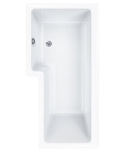 Carron Quantum 5mm Acrylic Square Shower Bath 1500 x 850mm Right Hand