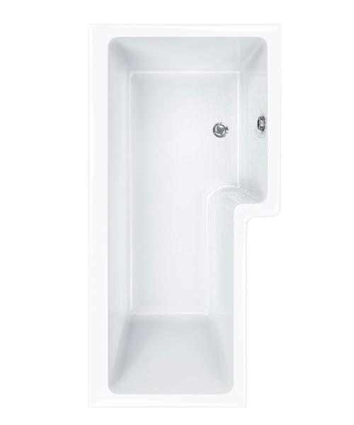 Carron Quantum 5mm Acrylic Square Shower Bath 1500 x 850mm Left Hand