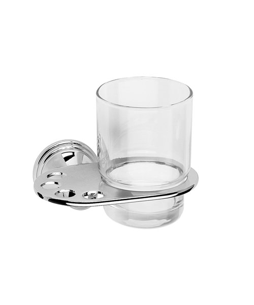 Croydex Westminster Tumbler And Chrome Plated Holder
