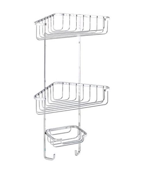 Croydex Wire Three Tier Corner Basket