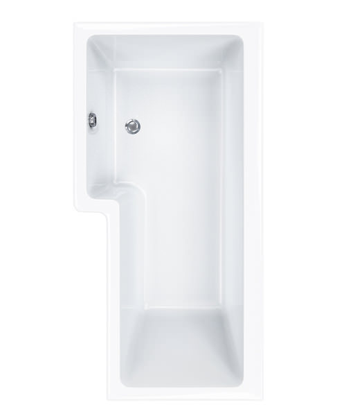 Carron Quantum 5mm Acrylic Square Shower Bath 1700 x 850mm Left Hand