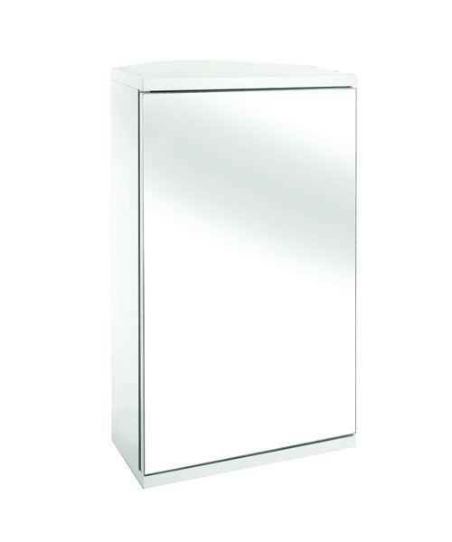 Croydex Wooden Simplicity Self Assembly Corner Mirror Cabinet