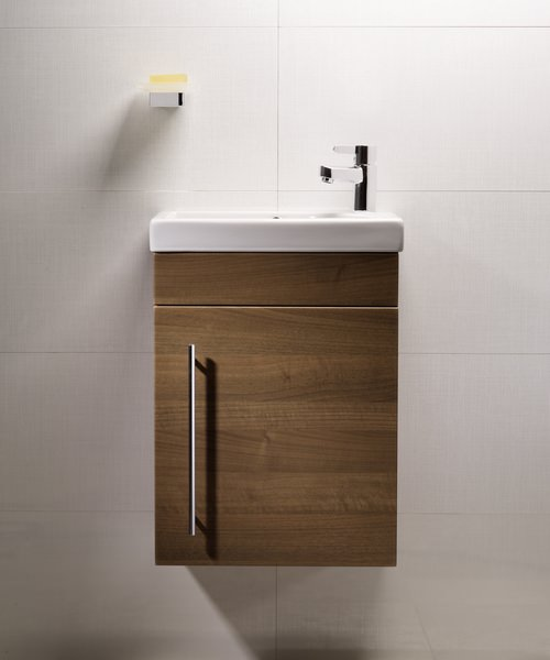 Roper Rhodes Esta Wall Hung Walnut Wash Unit And Ceramic Basin