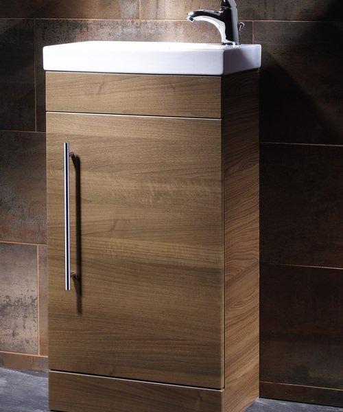 Roper Rhodes Esta Floorstanding Walnut Wash Unit And Ceramic Basin