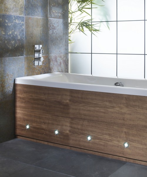 Roper Rhodes Porto Walnut Front Bath Panel 1695 x 500mm With LED