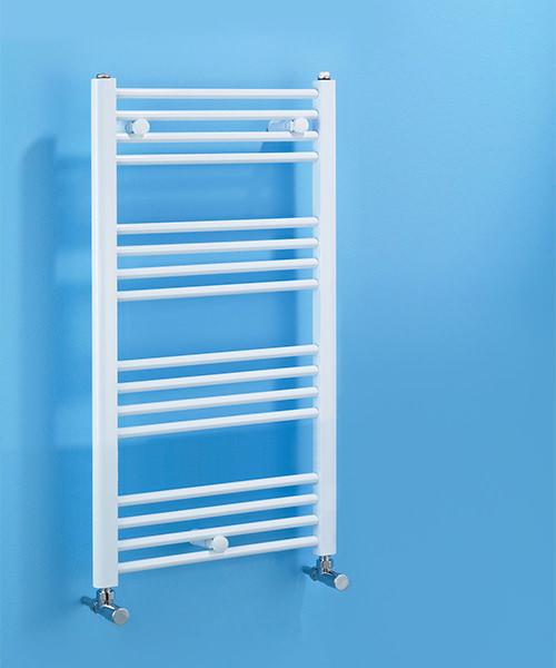 Biasi Dolomite Straight White Heated Towel Rail 400 x 1100mm