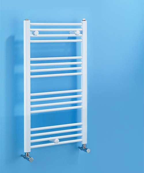 Biasi Dolomite Straight White Heated Towel Rail 600 x 1100mm