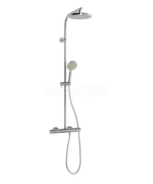 Crosswater Curve Cool Touch Multifunction Thermostatic Shower Valve Chrome