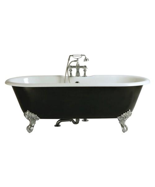 Heritage Buckingham 2 Taphole Cast Iron Bath With Feet 1700x770mm