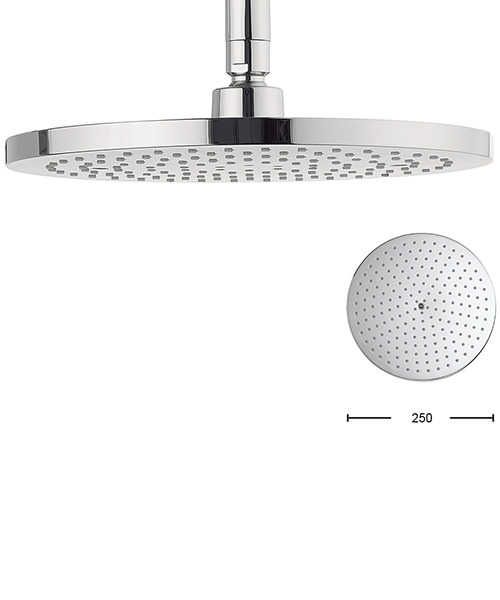 Crosswater Central 250mm Brass Round Shower Head