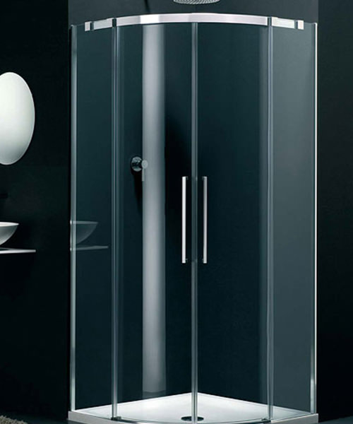Lakes Italia Carini Sliding Shower Door Offset Quadrant 900 x 800mm