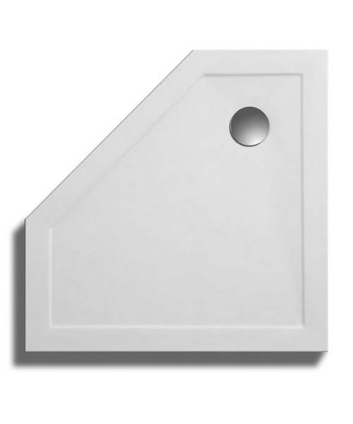 Lakes Low Profile ABS Pentagon Shower Tray 1000x1000mm With 90mm Waste