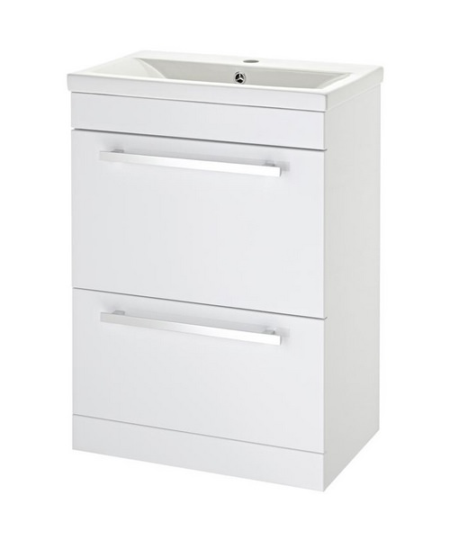 Lauren Eden 600mm Door And Drawer Floor Standing Basin Cabinet