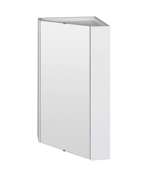 Lauren Mayford High Gloss White 459mm Corner Mirror Cabinet