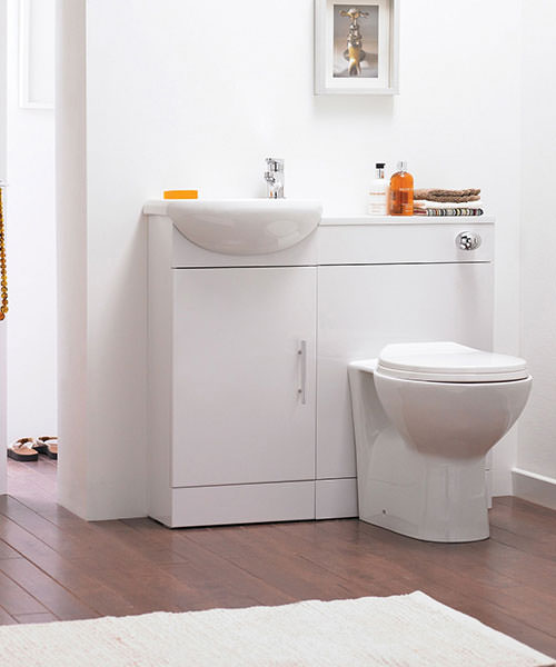 Lauren Sienna Cloakroom Gloss White Furniture Pack
